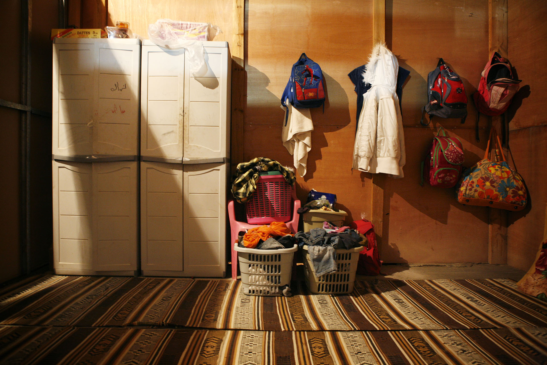 One of the children's bedroom in Fatima's family home. April 2010