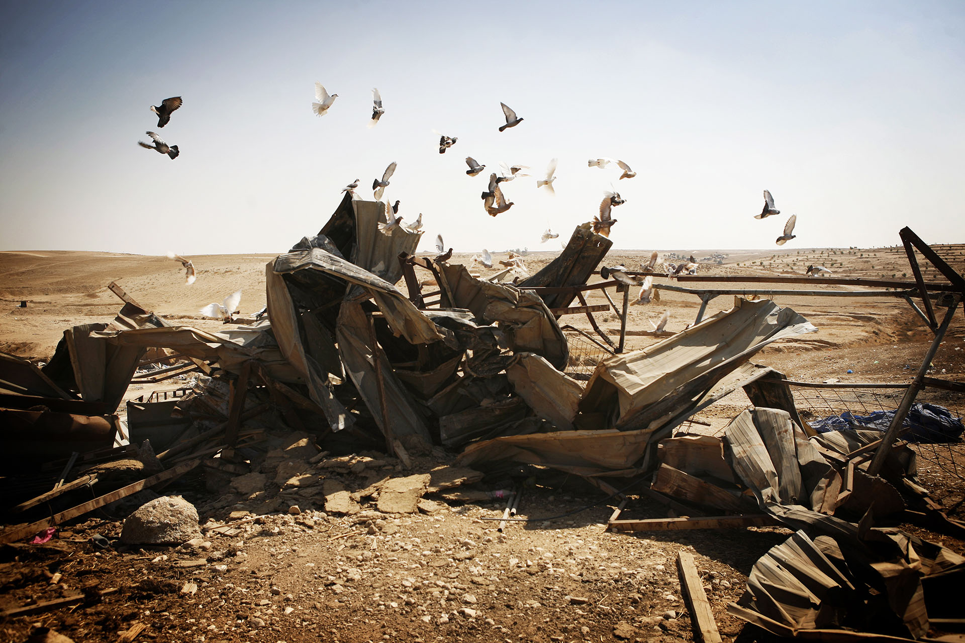 Rubble left in Al Araqib after a demolition. Later that year, the state passed a law stating that the expense of the demolition should be covered by the people whose home is being demolished. In other villages, this has led to a number of families demolishing their own homes. September 2010