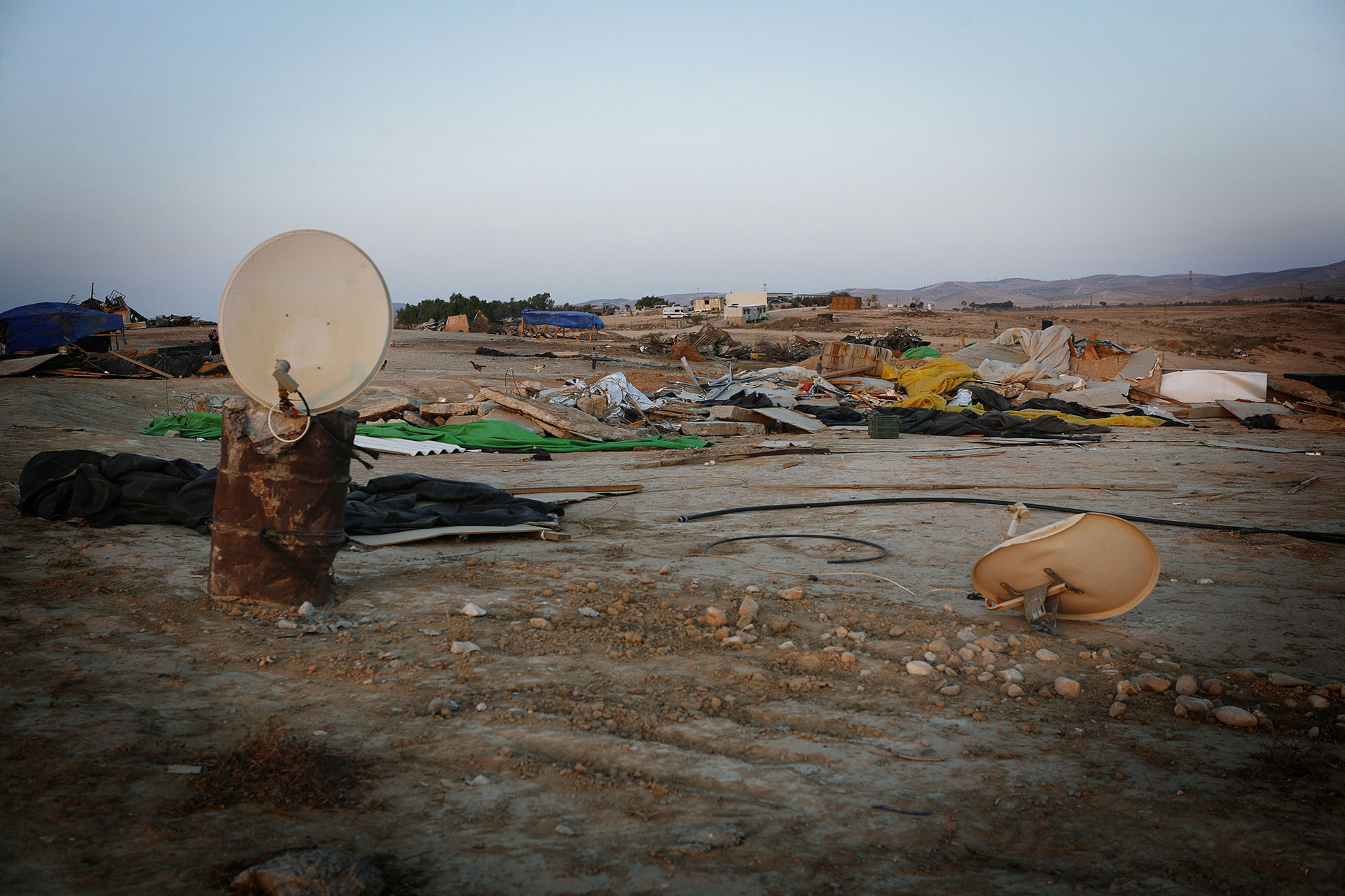 Al Araqib after repeated demolitions took place in the space of two months. Al Araqib, September 2010