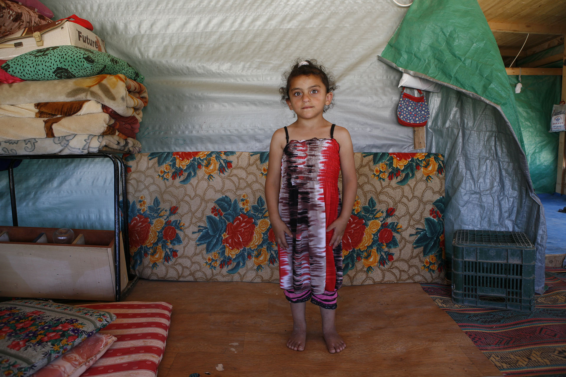 Sujoud in the structure her parents built after their home was demolished in July 2010. Al Araqib July 2012