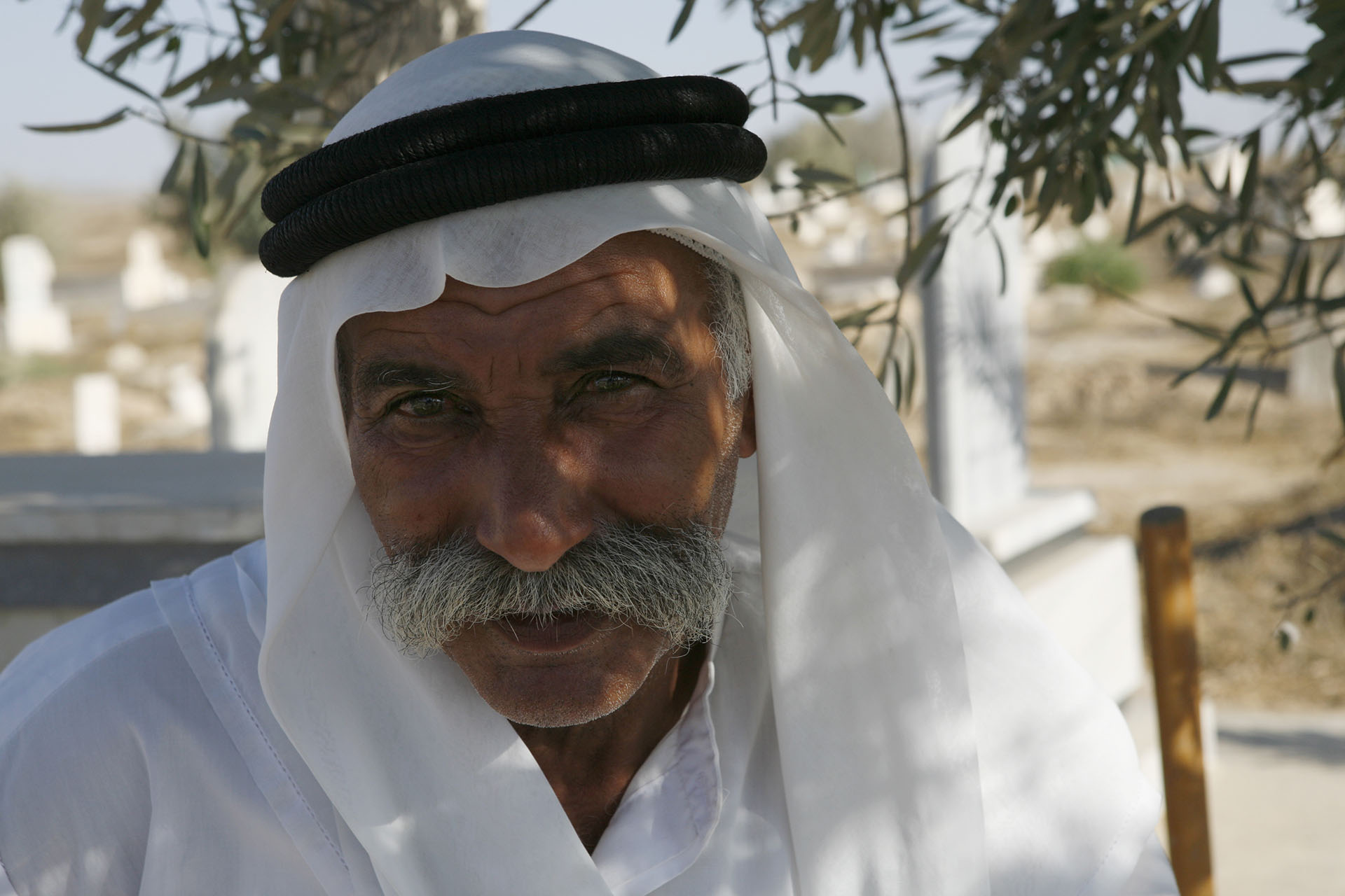 Sheikh Sayah Al Turi. 'We will not move' he said in 2010. By 2015 the village had been demolished and rebuilt 90 times. Al Araqib, July 2012