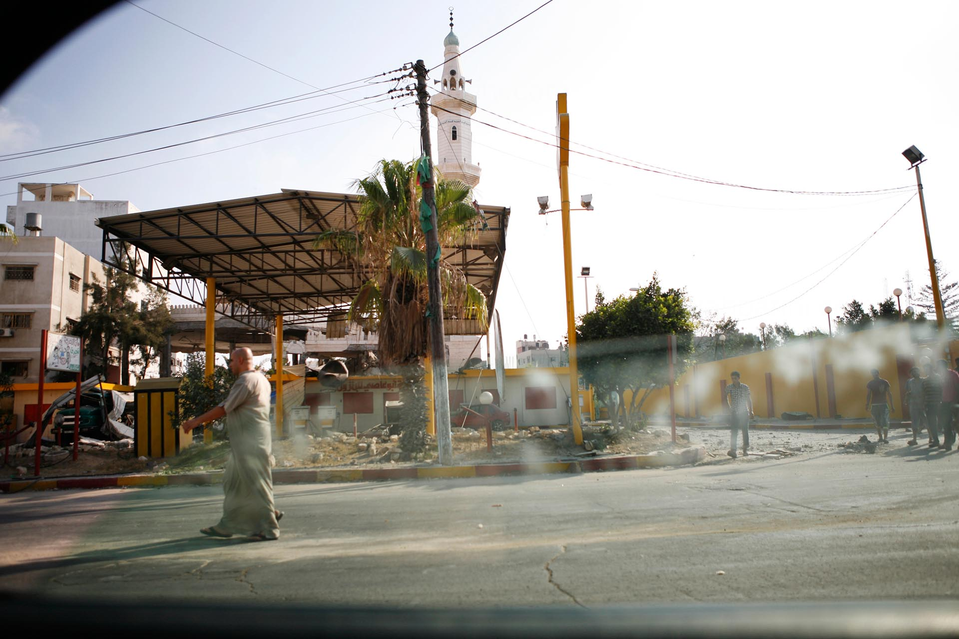 A bombed out gas station in Gaza city. Gaza, July 2014