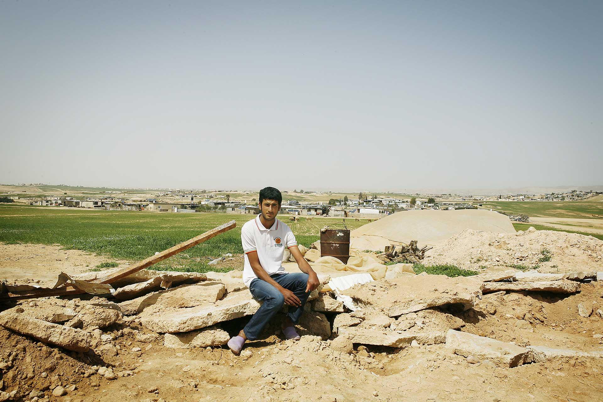 Unrecognized village of Al Zaroura, Israel 2014